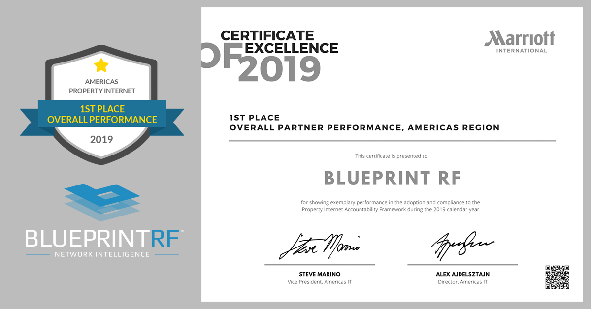 Blueprint RF named Top Marriott WiFi Provider